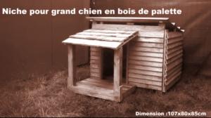 construire une niche pour chien en palette