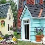Une niche pour chien sous forme de maison
